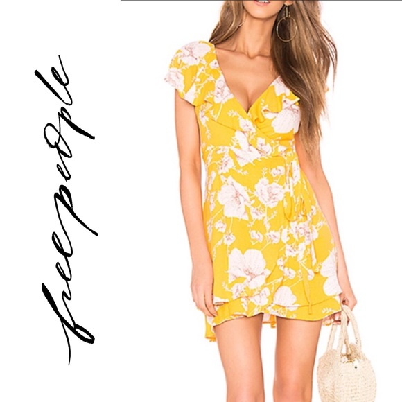 Free People Dresses & Skirts - Free people French quarter floral mini wrap dress